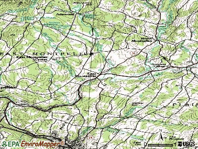 East Montpelier topographic map