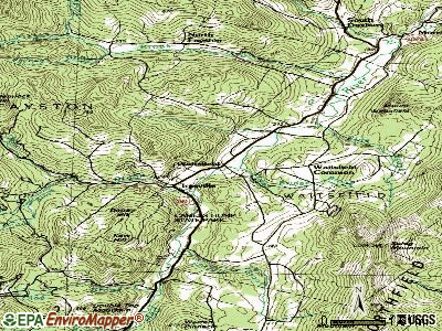 Waitsfield topographic map
