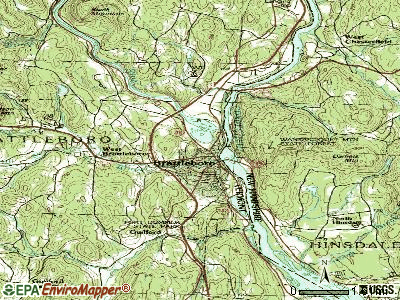 Brattleboro topographic map