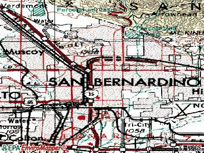 San Bernardino topographic map