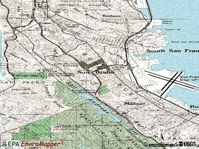 San Bruno topographic map