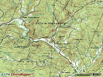 Townshend topographic map