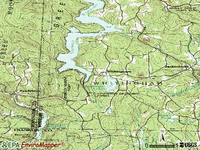 Whitingham topographic map