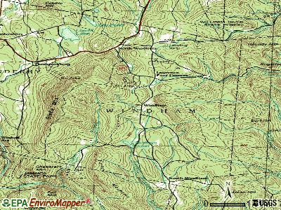 Windham topographic map