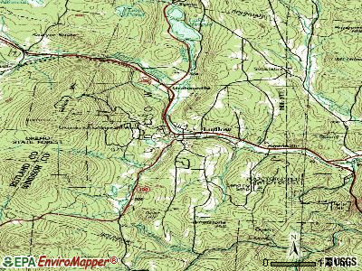 Ludlow topographic map