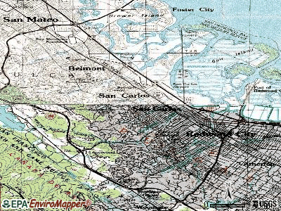 San Carlos topographic map