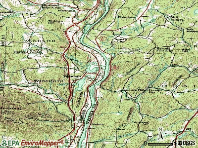 Barre topographic map