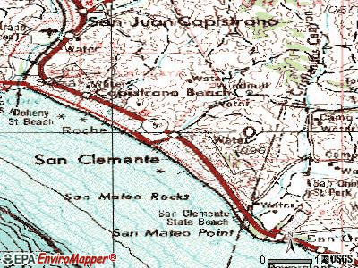 San Clemente topographic map