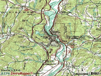 Bellows Falls topographic map