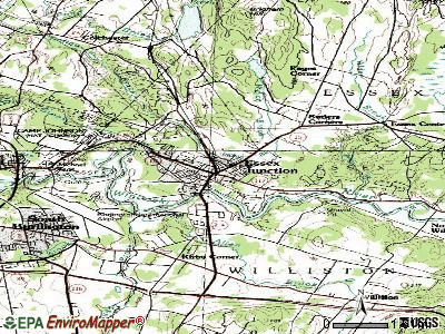 Essex Junction topographic map