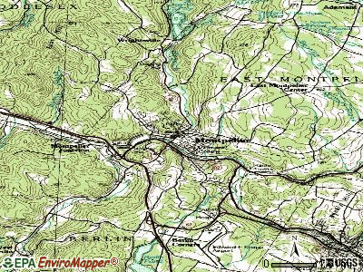 Montpelier topographic map