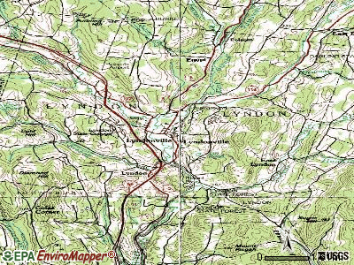 North Bennington topographic map