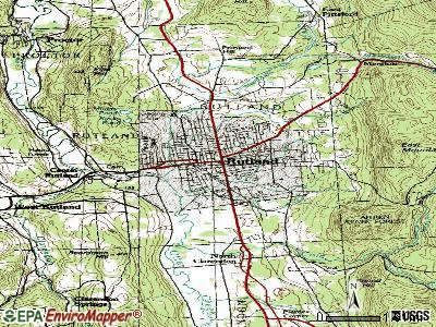 Rutland topographic map