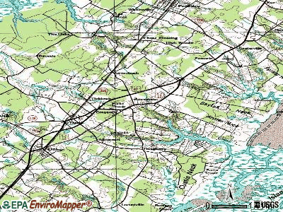 Accomac topographic map