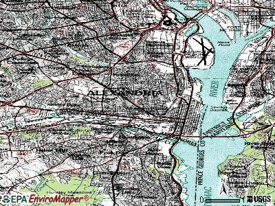Alexandria topographic map