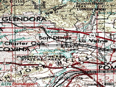 San Dimas topographic map