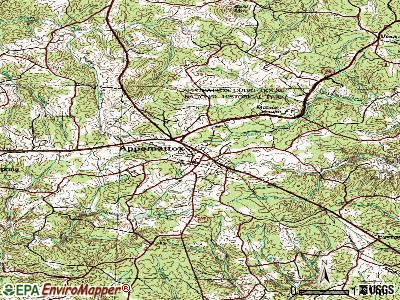Appomattox topographic map