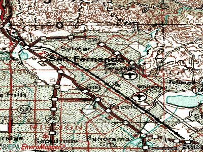 San Fernando topographic map