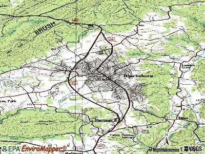 Blacksburg topographic map