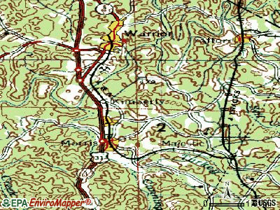 Kimberly topographic map