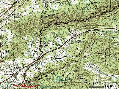 Blue Ridge topographic map