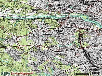 Bon Air topographic map