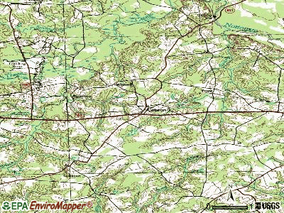 Capron topographic map