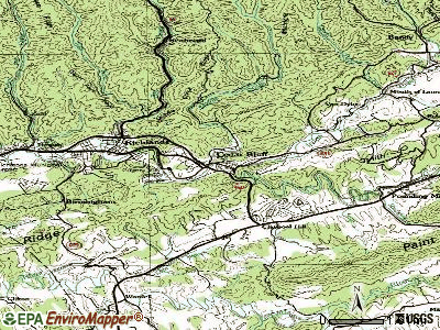 Cedar Bluff topographic map