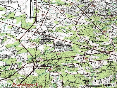 Chantilly topographic map