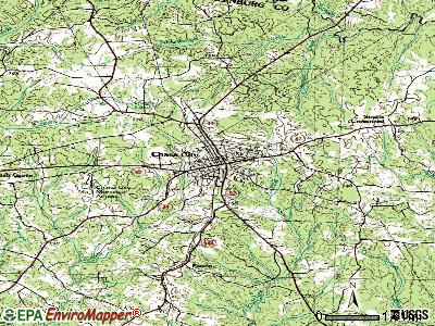 Chase City topographic map