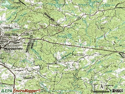 Chatmoss topographic map