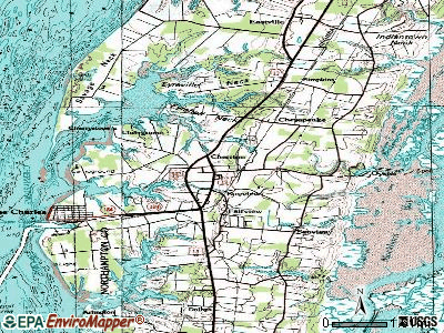 Cheriton topographic map