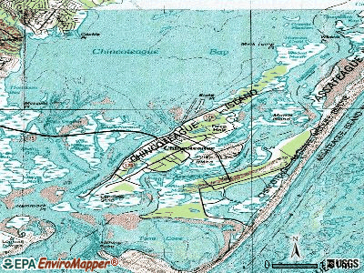 Chincoteague topographic map