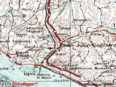 San Jacinto topographic map