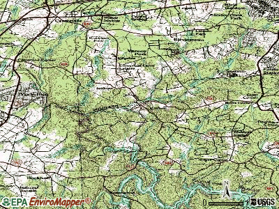Clifton topographic map