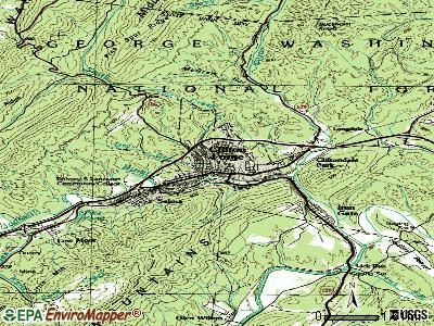 Clifton Forge topographic map
