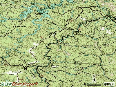 Clinchco topographic map