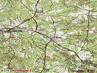 Crewe topographic map