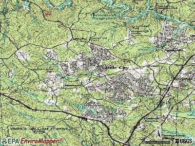 Dale City topographic map