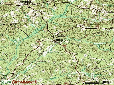 Drakes Branch topographic map