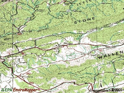 Dryden topographic map