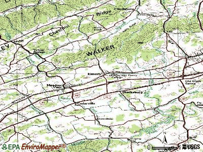 Emory-Meadow View topographic map