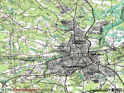 Ettrick topographic map