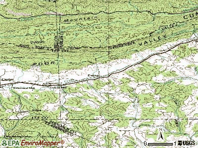 Ewing topographic map