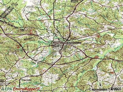 Farmville topographic map