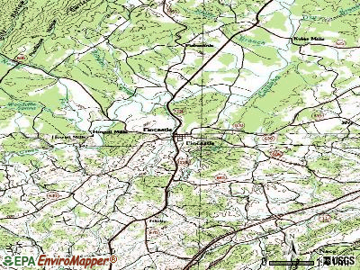 Fincastle topographic map
