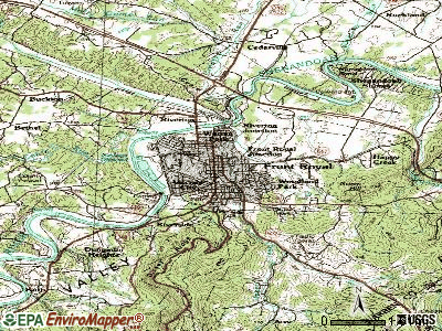 Front Royal topographic map
