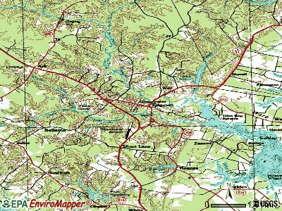 Gloucester Courthouse topographic map