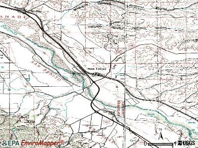 San Lucas topographic map