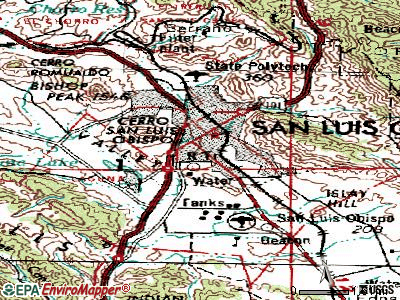San Luis Obispo topographic map